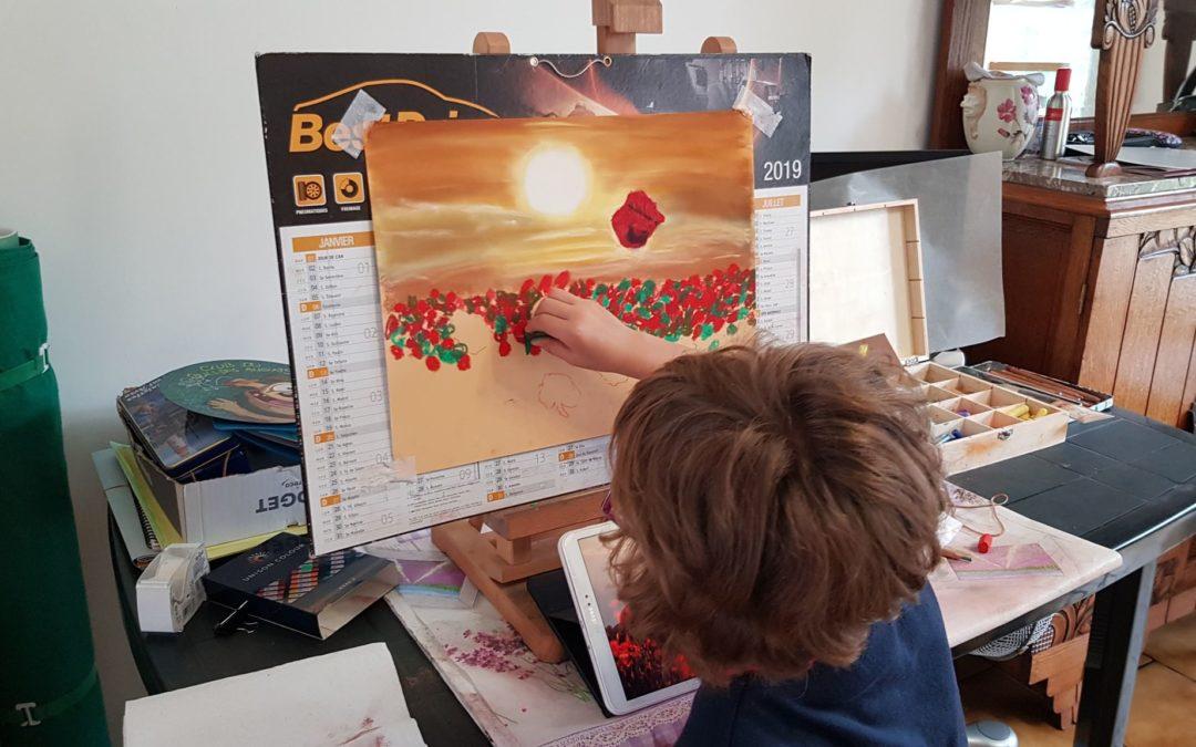 Cours de pastels pour enfants