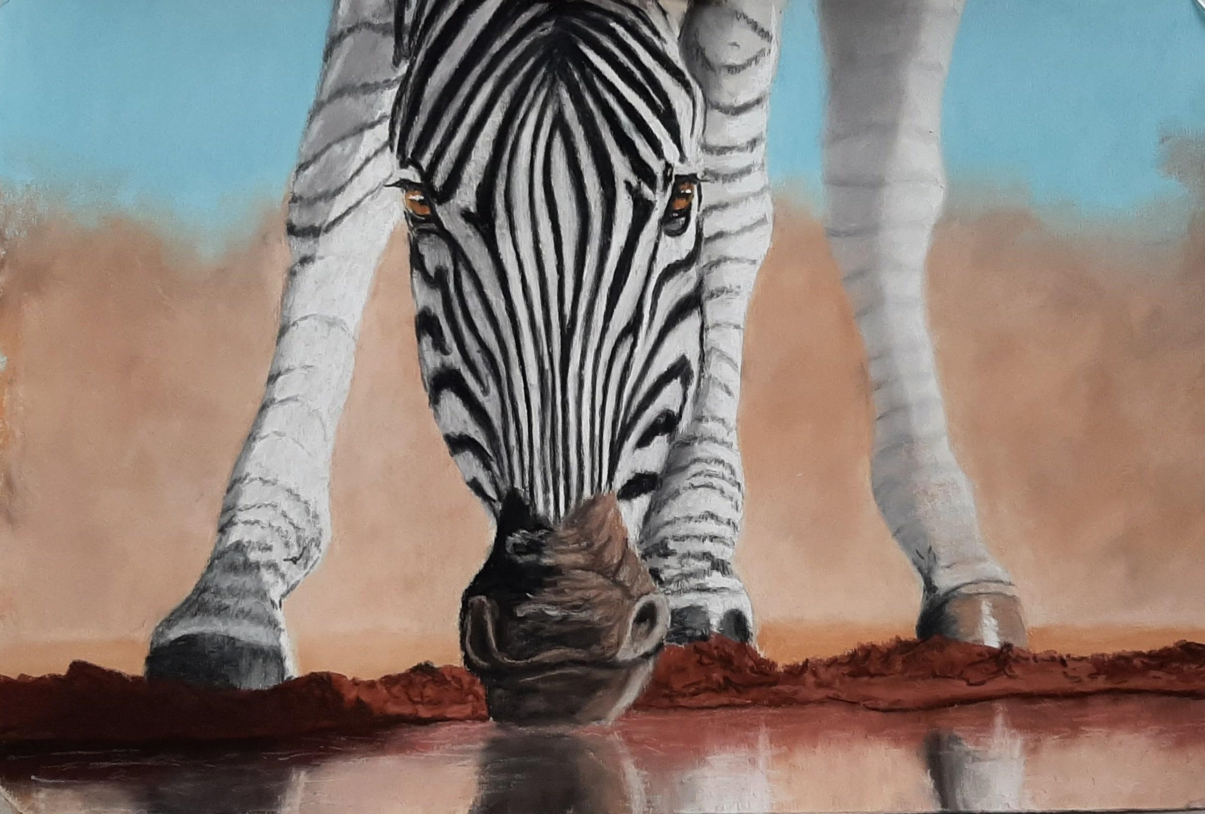 le zebre, réalisé sur papier UART